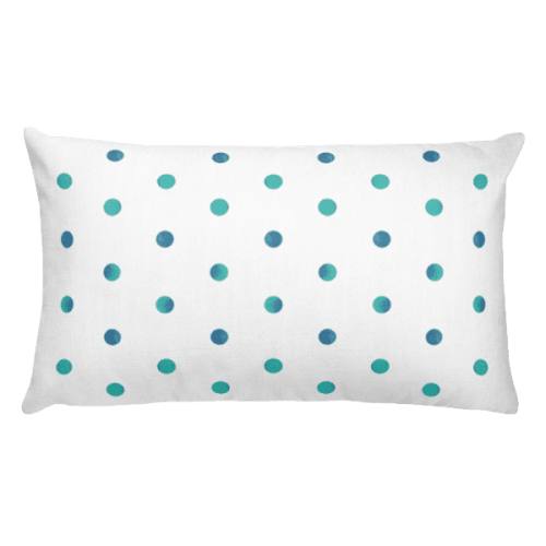 Watercolor Polka Dot Rectangular Pillow