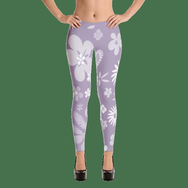 Floral Pale Purple Leggings