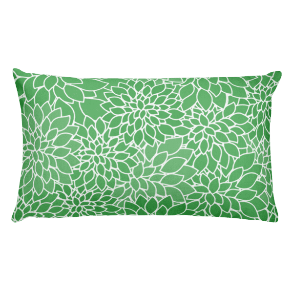 Abstract Leafy Green Rectangular Pillow