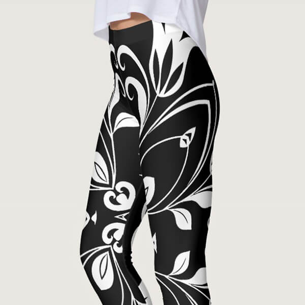 Bold Floral Butterfly Leggings