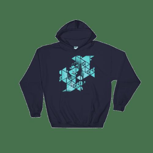 Abstract Geometric Grid Rebel Mermaid Hooded Sweatshirt