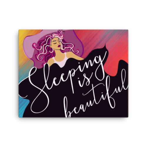 Sleeping is Beautiful Canvas Wall Art