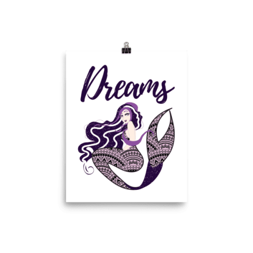 Bohemian Mermaid Dreams Poster