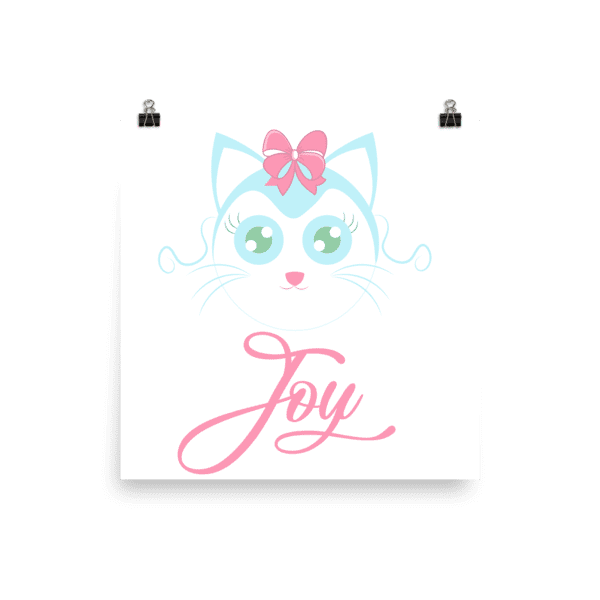 Joyful Cat Poster