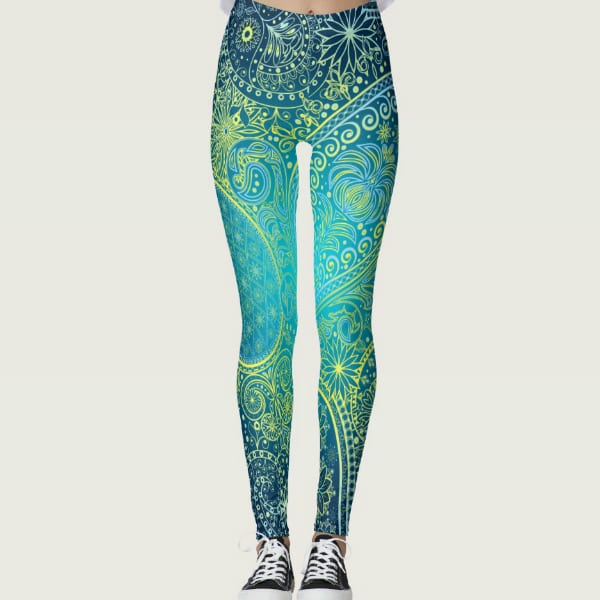 Dreams Are Made of This Gradient Floral Leggings