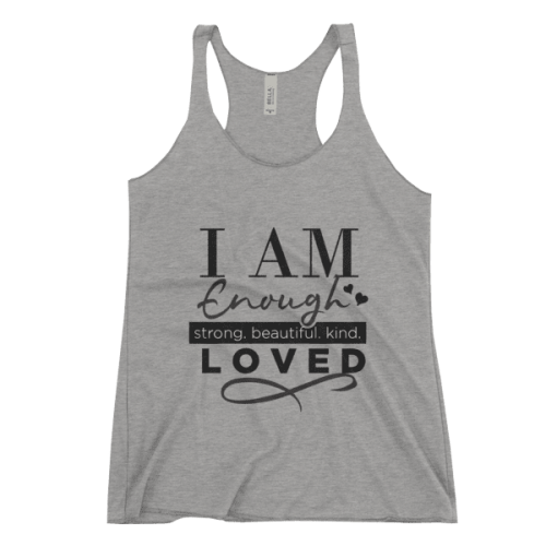 I AM ENOUGH Women's Racerback Tank