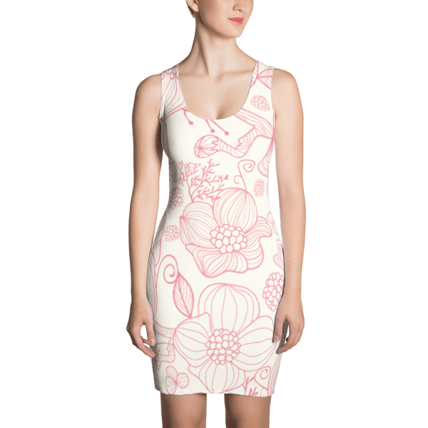 Soft Pretty in Pink Flower Dress