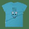 Meow Women's short sleeve Cat t-shirt