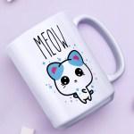 meow cat mug cat lover gift