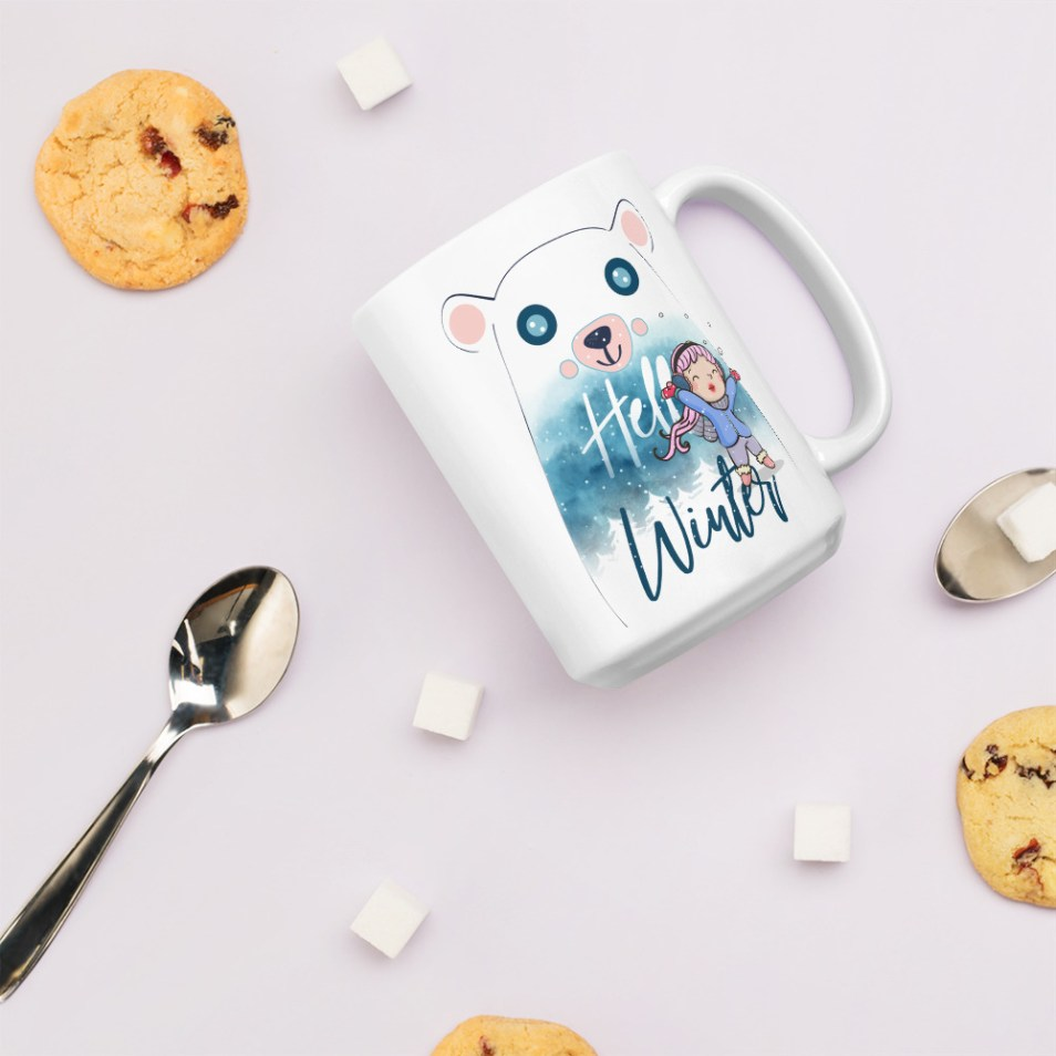Hello Winter Quote Mug
