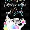 Meowgical Caticorn, Coffee, and Books Rainbow Unicorn funny cat Shirt