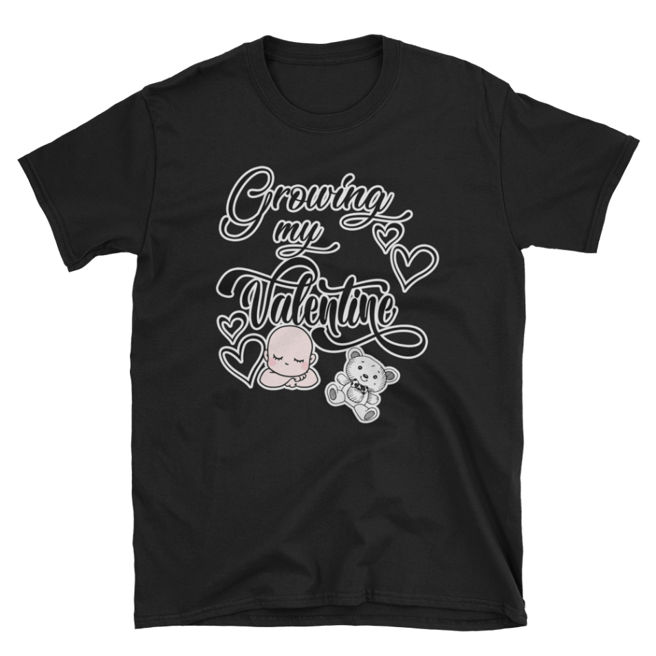 Growing My Little Valentine Couples Maternity Shirt