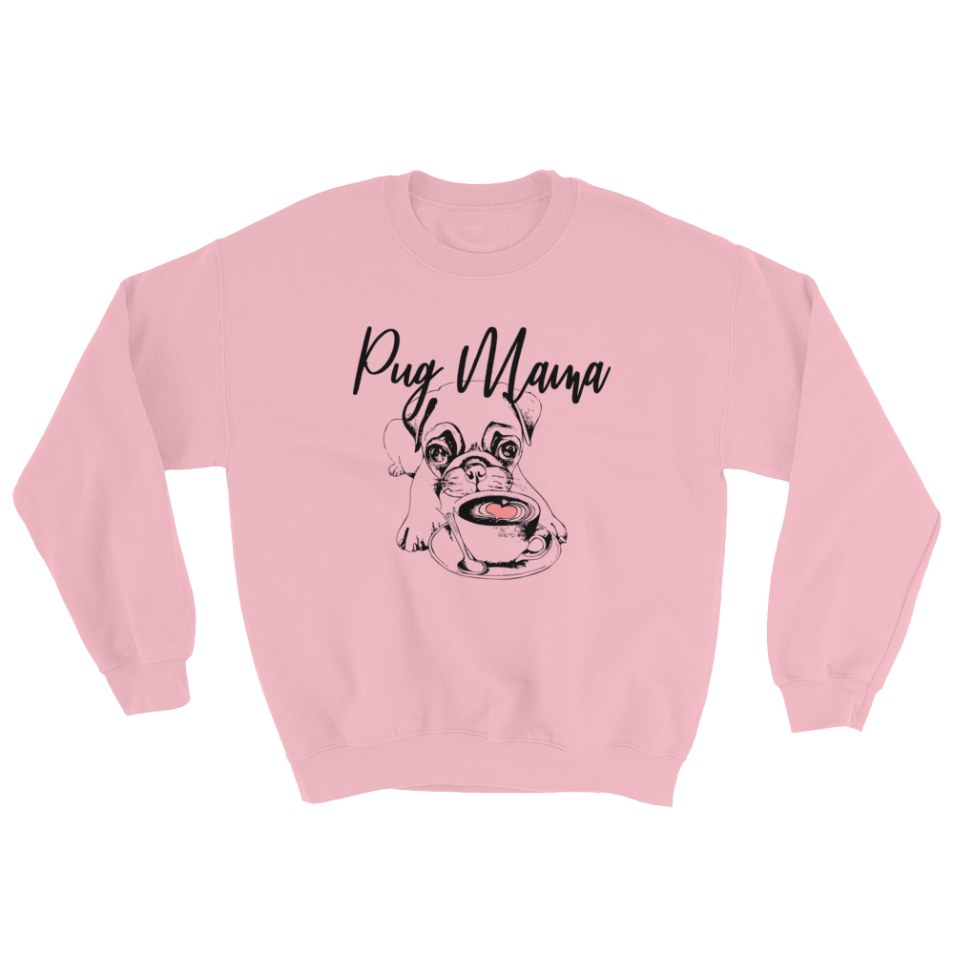 Pug Mama Sweater - Pug Lover Gift, pug sweater, pug shirt, dog lovers shirt, dog lovers sweater, love pugs sweater, coffee lovers shirt, coffee lovers sweater,