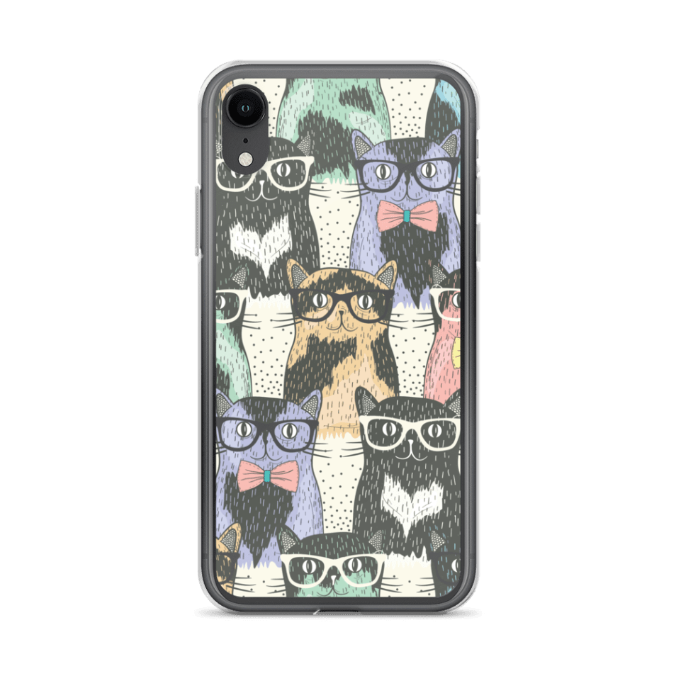 Cute Geeky Cats iPhone Case – Cat Lover Gifts