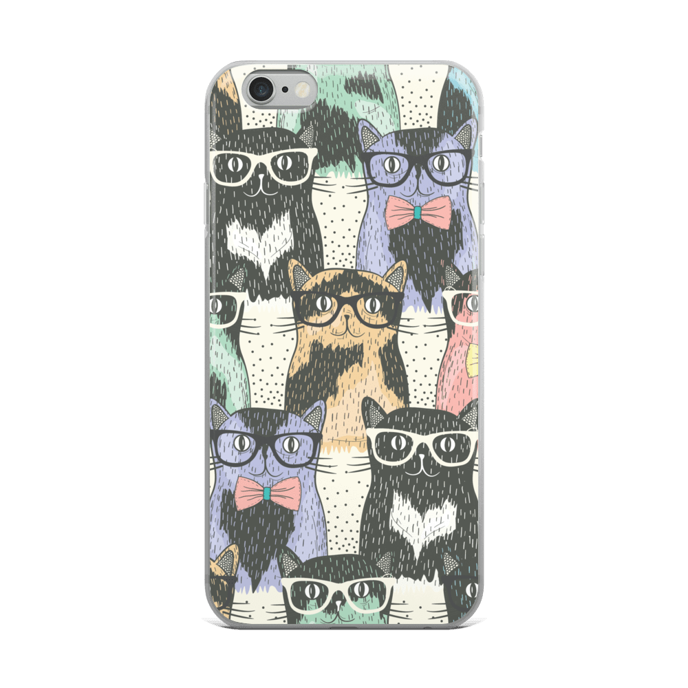 Cute Geeky Cats iPhone Case - Cat Lover Gifts