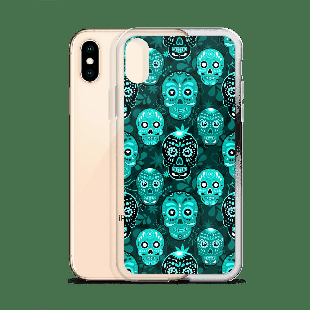 Death Candy Skulls Blue iPhone case - iPhone 6 case, iPhone 8 case, iPhone X case