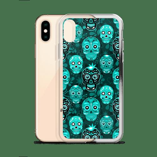 Death Candy Skulls Blue iPhone case – iPhone 6 case, iPhone 8 case, iPhone X case