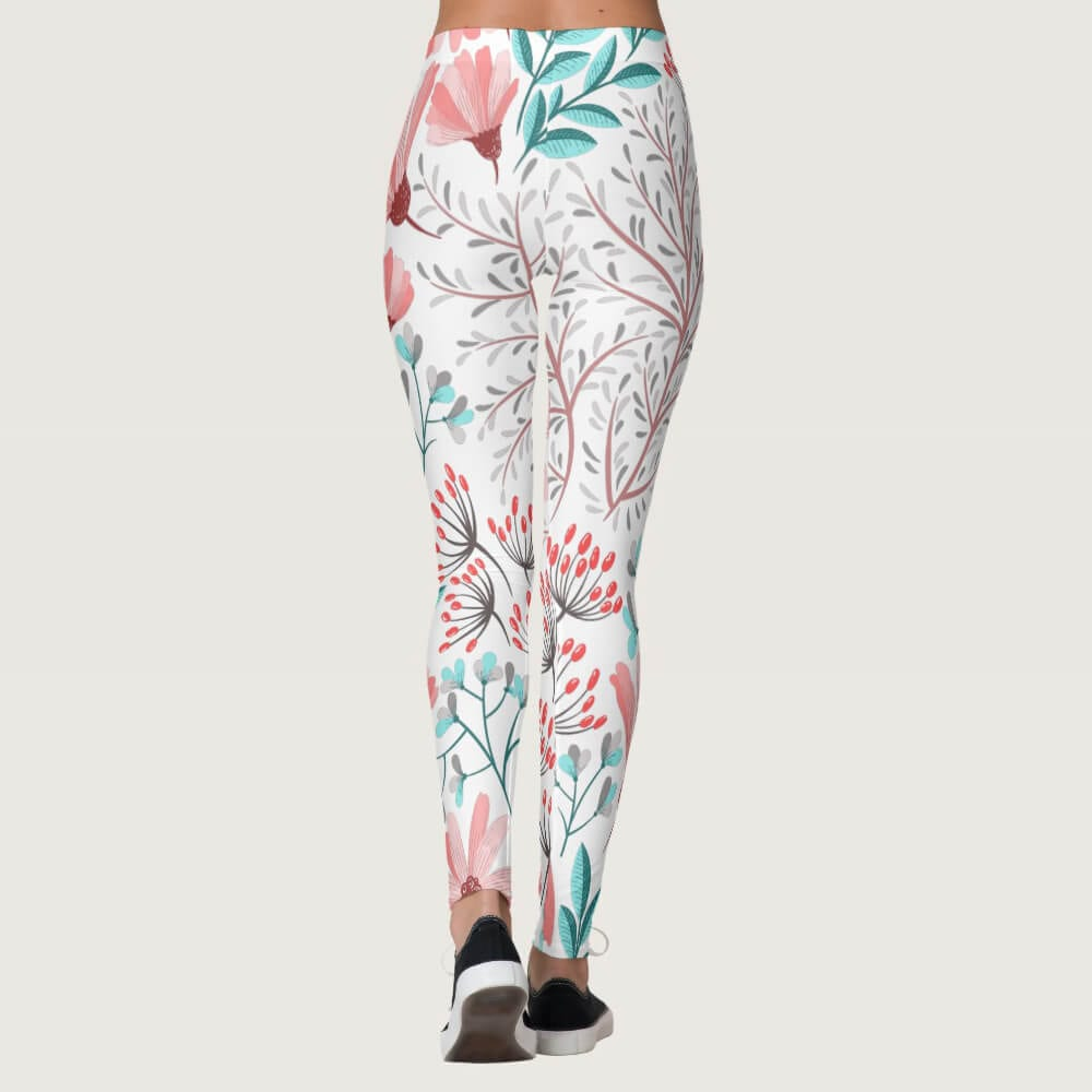 Watercolor Lilac Floral Leggings