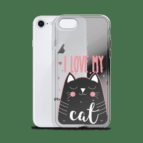 I Love My Black Cat iPhone Case