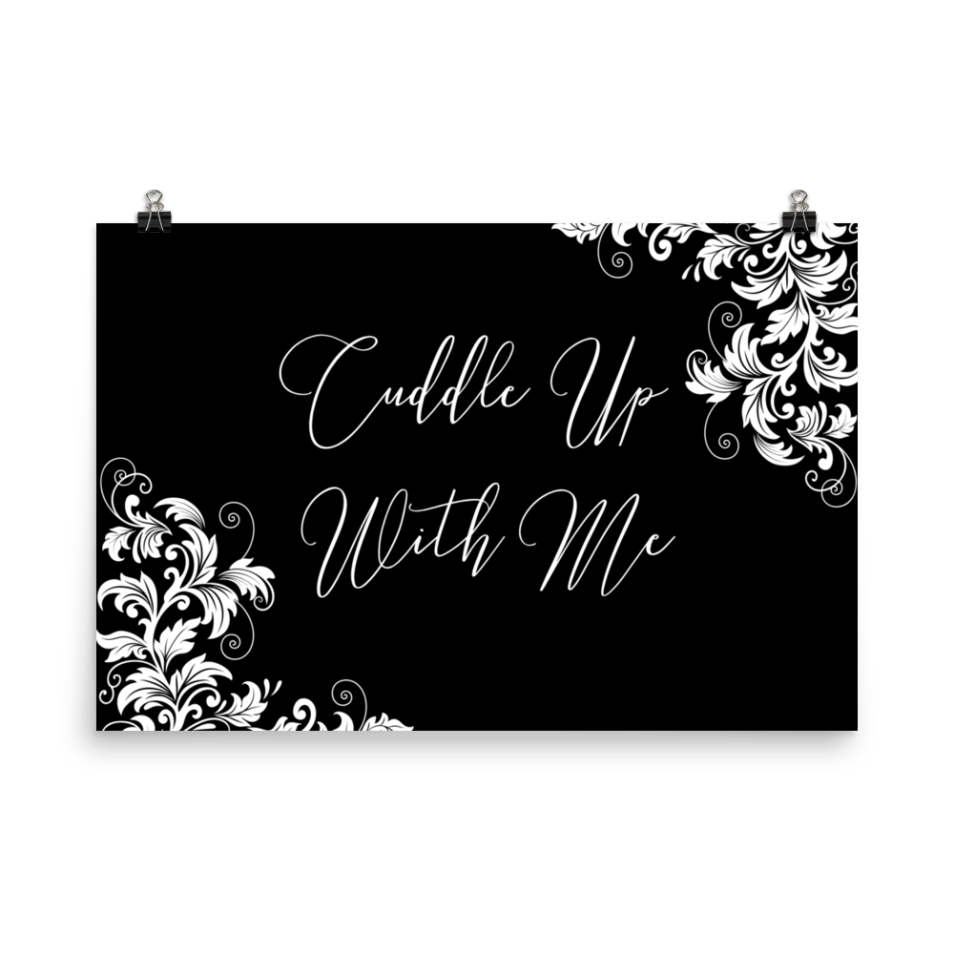 Cuddle Up With Me Black and White Classic Wall Art Print