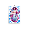 Blue Mermaid Cnidaria Wall Art Print Poster