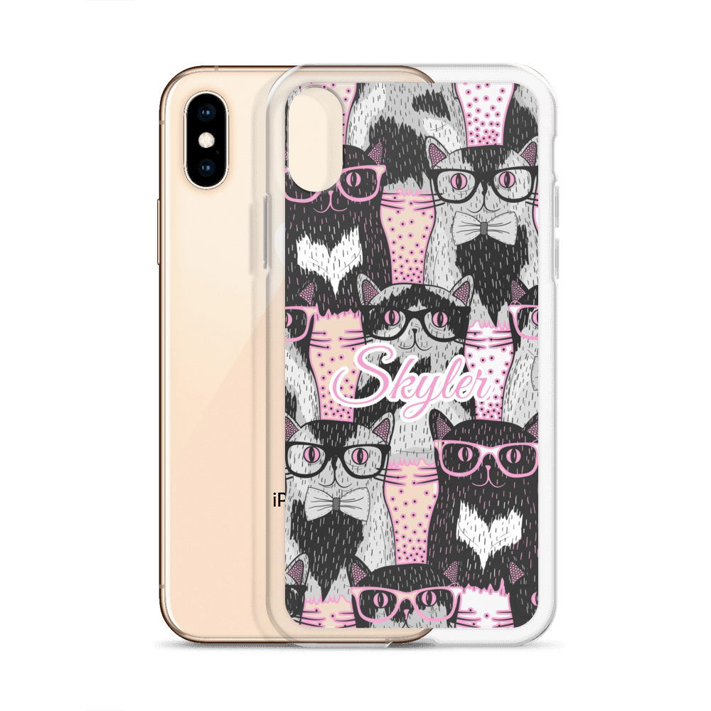 Cute Geeky Munchkin Cat iPhone Case