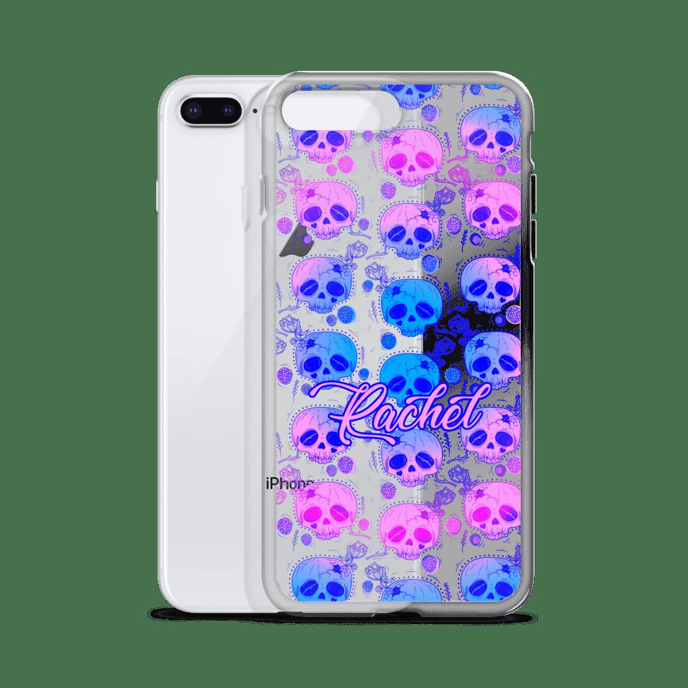 Gradient Floral Skull iPhone Case