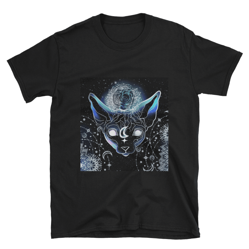 Celestial Magical Sphynx Cat T-shirt