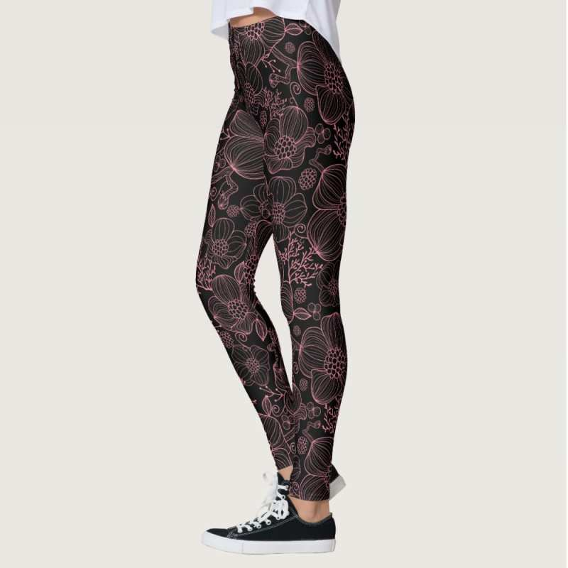 Black Pink Cosmos Leggings