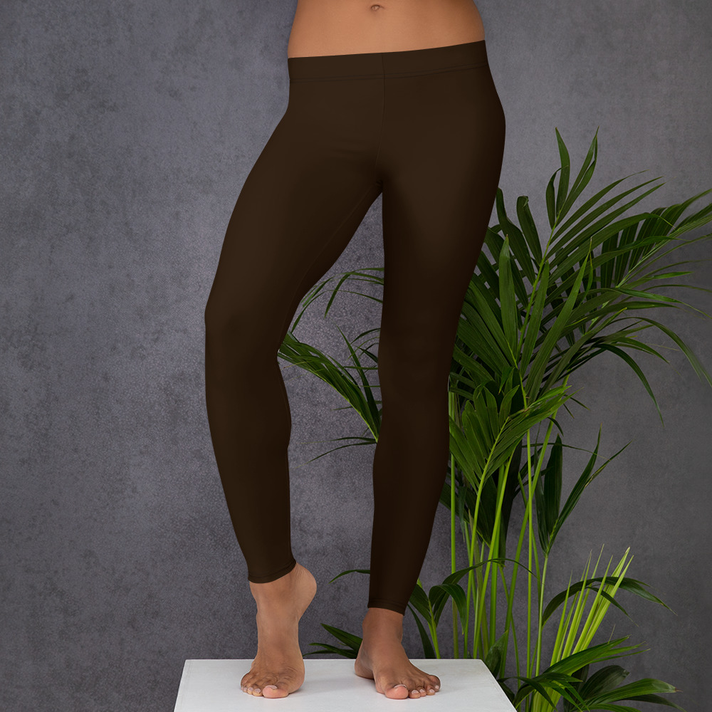 Coffee Brown Womens Leggings