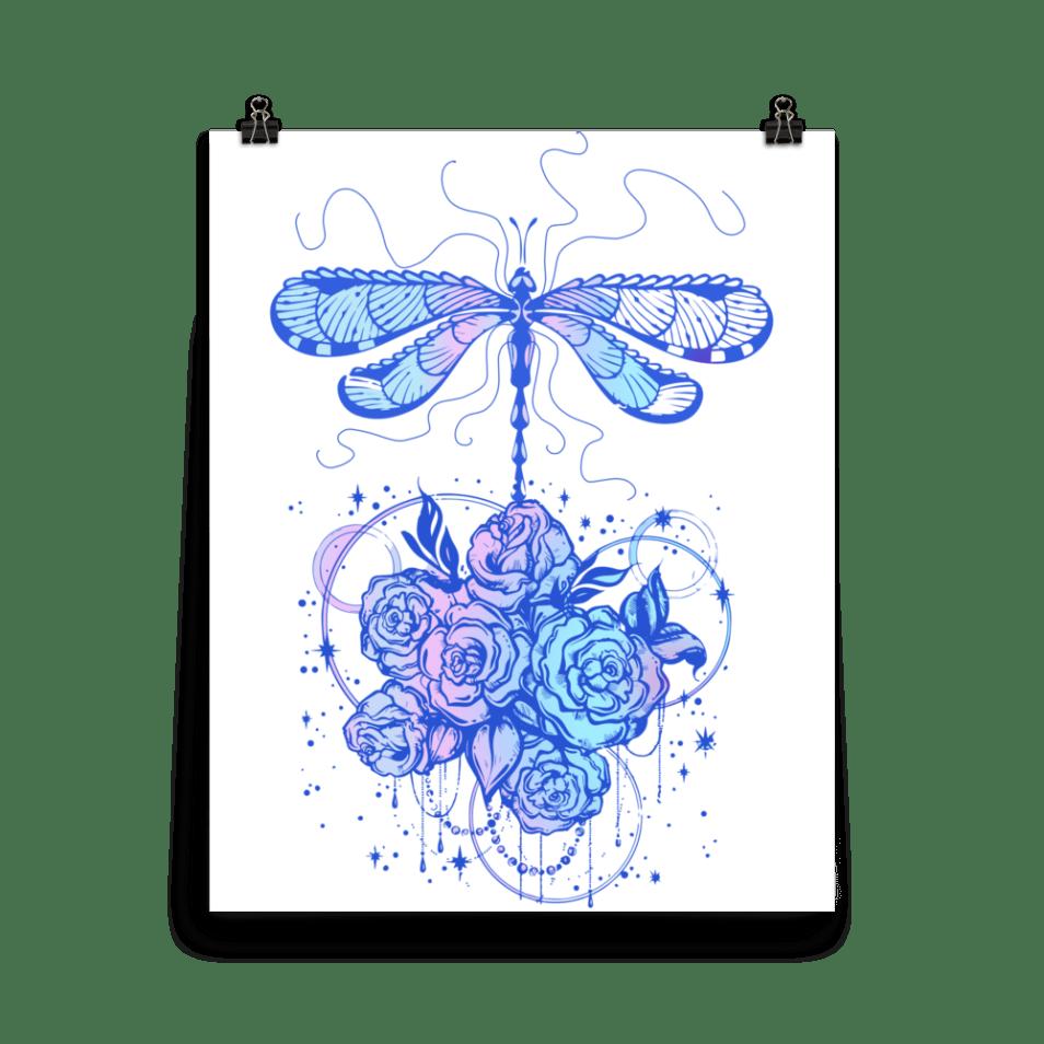Dragonfly dreams illustration wall art, dragonfly digital art, graphic design dragonfly,