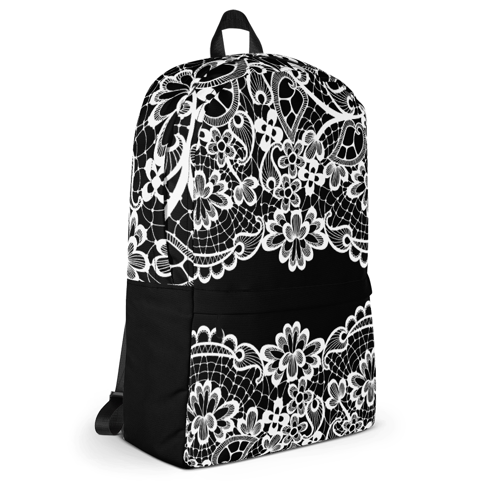 Lace Black Laptop Backpack