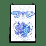 Dragonfly dreams illustration wall art, dragonfly digital a, graphic design dragonfly,