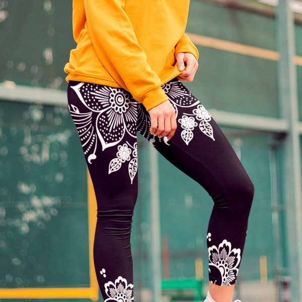 Bohemian Floral Lace Yoga Leggings