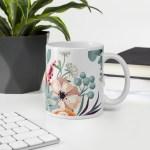 Watercolor Buttercup Peony Anemone Mug