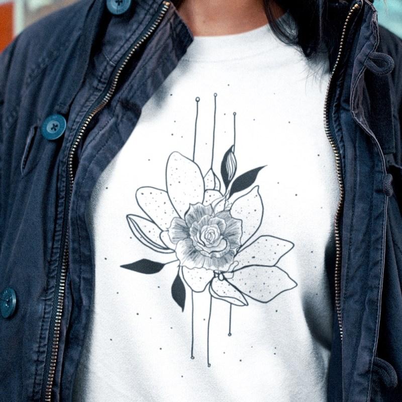 Ethereal Bearded iris flower Sweatshirt For Women