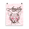 Personalize valentine sphynx cat face