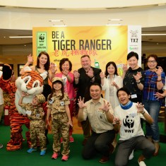 WWF Hongkong's team posing with Koni Liu