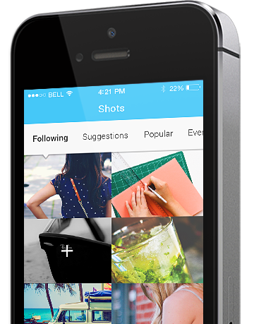 mobile app images section