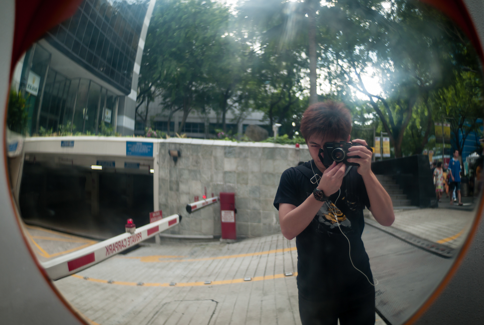 Photographer taking a picture of himself
