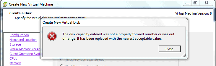 VMWare-create-disk-error