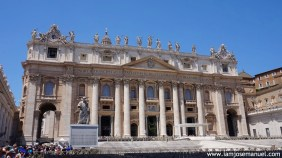 The Vatican Facade is undoubtedly the grandest Church I've seen in Europe