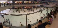 Massive ice rink at Mall of Asia