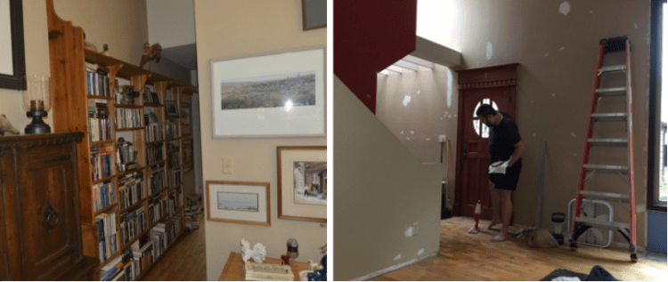 patching walls