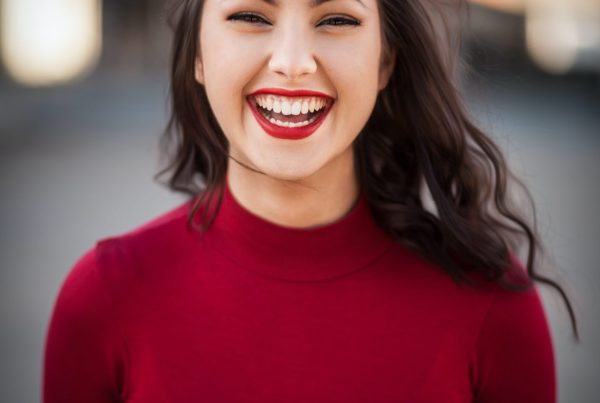 closeup photography of woman smiling
