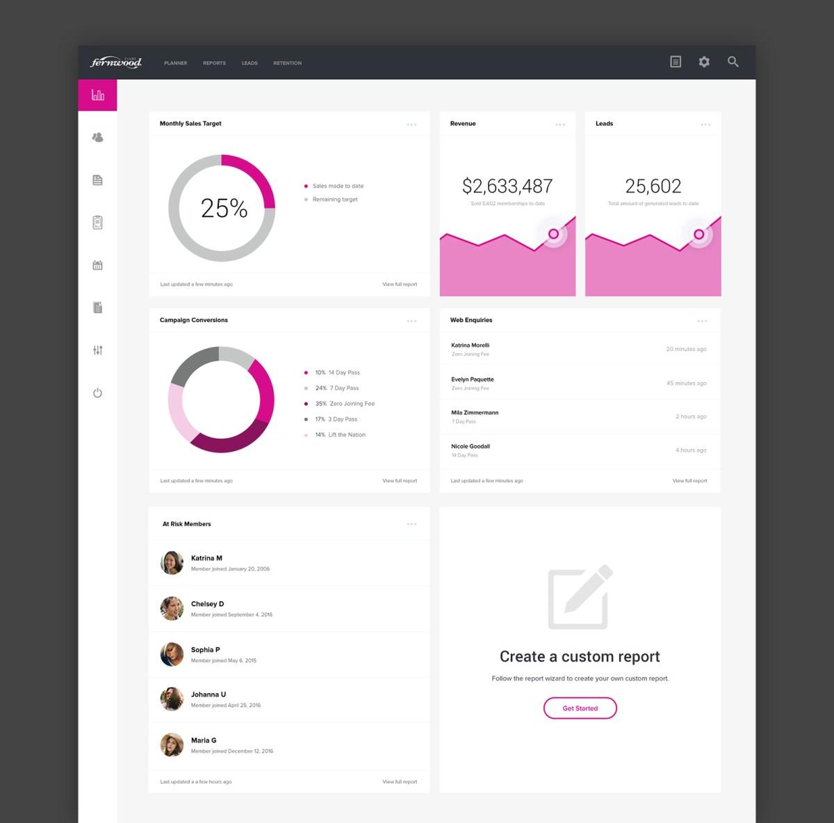 Club Tools Dashboard UI