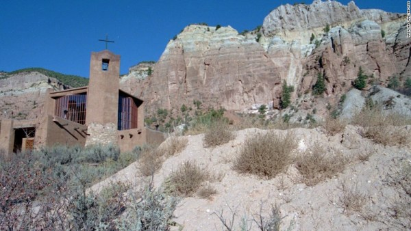The Monastery of Christ in the Desert, shown in this Friday, Oct. 20, 1995 photo, is located in a remote canyon along the Rio Chama near Abiquiu, N.M. Despite its location, the monastery draws thousands of visitors each year. (AP Photo/Natasha Lane)