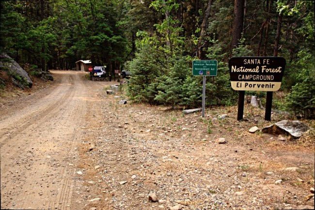 Entrance to El Povenir Campground - New Mexico's 18 best camping locations
