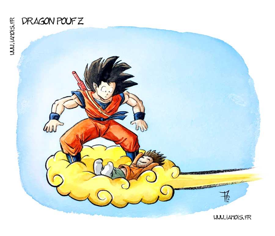 Dragon Pouf Z - auteur : iamo'i's