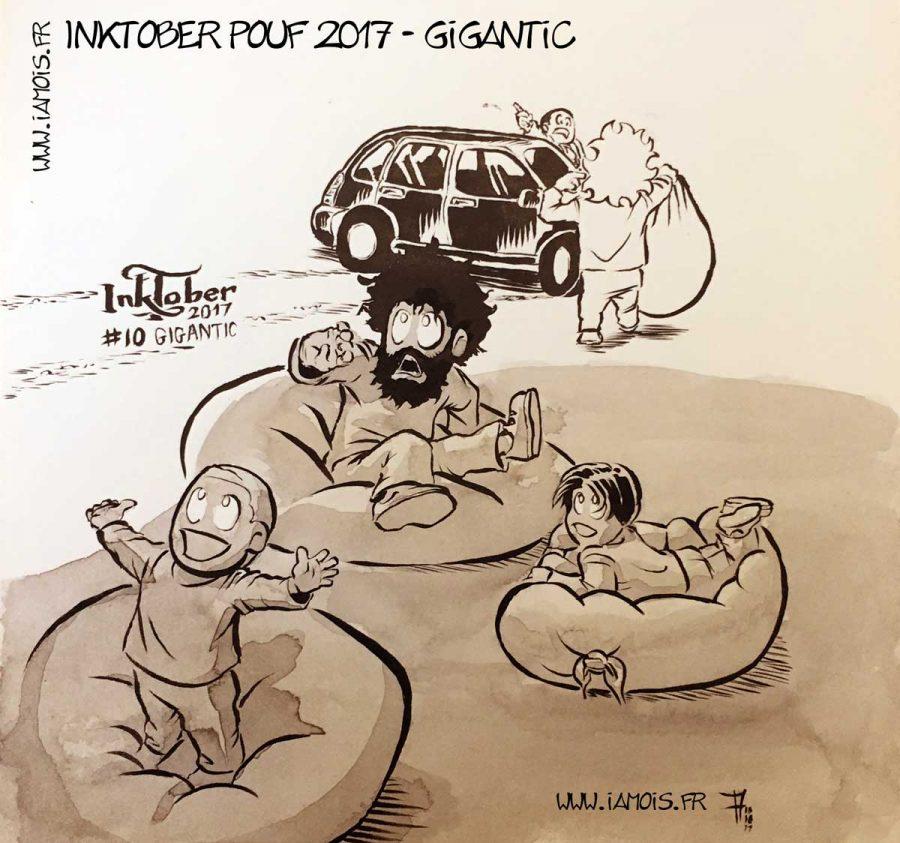 Inktober Pouf 2017 10 Gigantic - auteur : iamo'i's